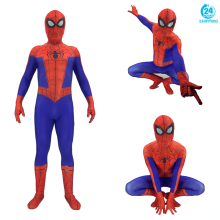 3D printing Spider-Man Into the Spider-Verse Peter Benjamin Parke Cosplay Costume Zentai Spiderman Superhero Pattern Bodysuit
