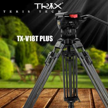 """TERIS V18T 70 """"18 kg kit de trépied vidéo professionnel en carbone 100mm tête fluide pour rouge écarlate Epic FS700 ALEXA mini"""