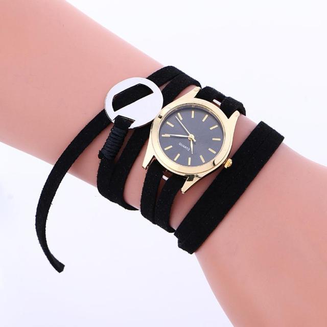 Watch 2018 Leather Bracelet Weaving Lady Womans Wrist Watch Saat erkek kol saati