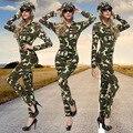 Army Green Женщина-Офицер Камуфляж Единые Женщины Сексуальное Oneize Для Офицера Костюм Тематическая Вечеринка Косплей Костюм