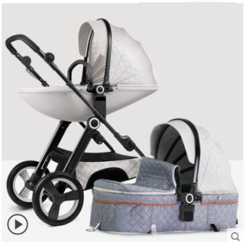Babyfond high landscape 2 in 1baby stroller can sit reclining lightweight folding  baby carriage send free 8 gifts 1