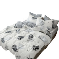 Autumn And Winter New Style Cotton Thick Warm Ins 4 pieces sheet set Cotton Velvet Printed Law Levin Velvet Suite on Beha