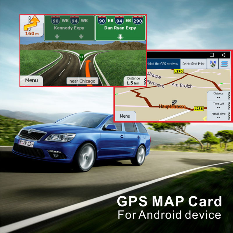 Europe GPS MAP with 8G SD card Russia/Spain/France/Germany/Italy/UK/whole Europe countries for Android device car navigation