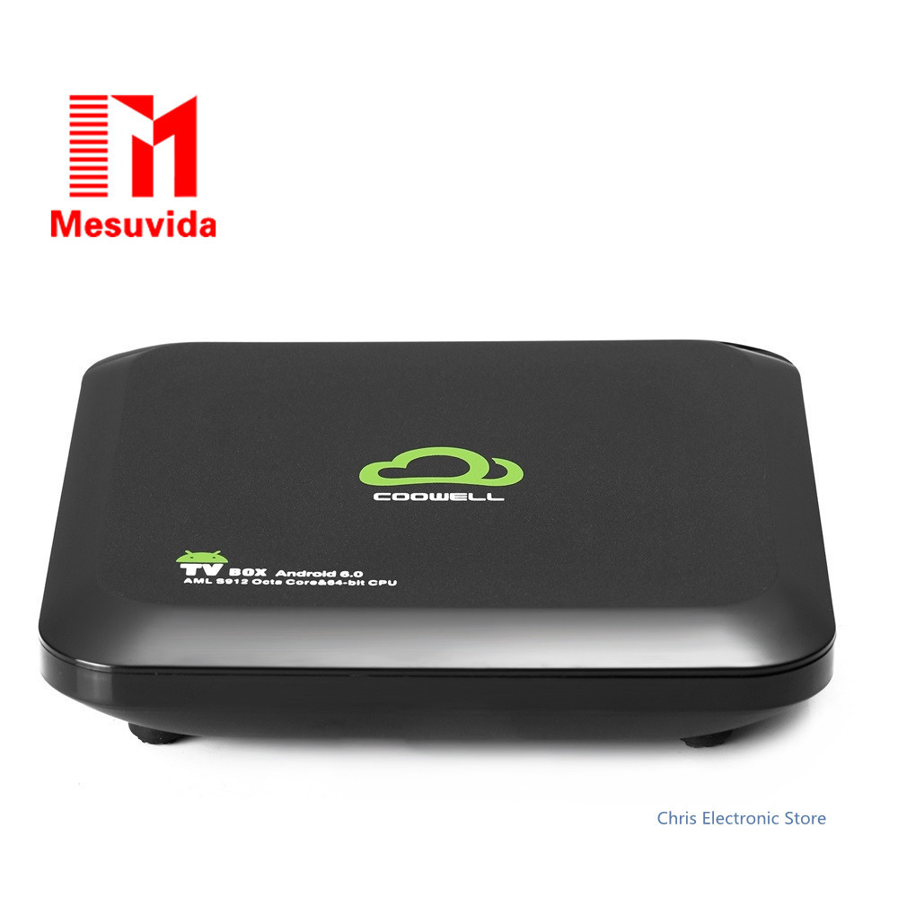 Mesuvida Hot V6 Android 6.0 Smart TV Box with Amlogic S912 Octa-core CPU Bluetooth 4.0 2.4G 5G WiFi TV Box smart box tv amlogic s912 octa core 2g 16g tv box android 6 0 4k tv box 2 4g 5g wifi bluetooth 1000m lan android tv box