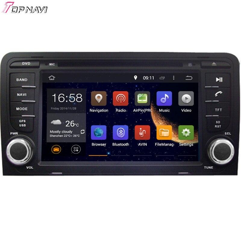 Topnavi 7 ''Octa Core 2 GB RAM Android 6.0 autoradio stéréo GPS pour A3 2003-pour Audi Audio lecteur DVD
