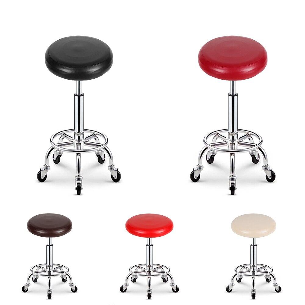 housse de chaise ronde en cuir pu elastique housse de protection pour siege de tabouret de bar etanche pour diametre 28 35 cm tabouret rond