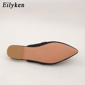 Image 5 - Eilyken Designers 2020 Spring/Autumn Sexy Leopard Flocked Slides Woman Flat Shoes Slip On Loafers Mules Flip Flops 35 42