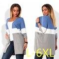 Nova 5XL 6XL Tamanho Grande 2016 Outono Inverno Casacos Grandes tamanho moda casual casacos casacos em linha reta mulheres plus size clothing Vestidos