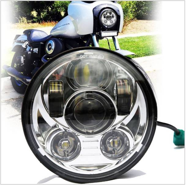 Promotion 1pcs 5.75 LED light 5-3/4 Motorcycle Projector LED Lamp Headlight For Harley Sportster Iron 883 Dyna Street Bob FXDB brand new silver color motortcycle accessories abs plastic led tail light fit for harley harley iron 883 xl883n xl1200n chopped