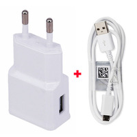 2A EU USB Travel Portable Cell Phone Charger Adapter USB Data Cable For Wiko Rainbow UP