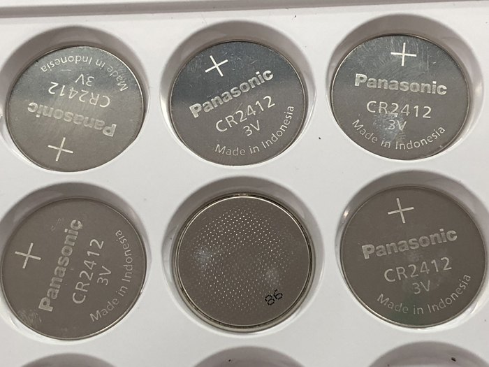 10pcs/lot Panasonic CR2412 3V Lithium Coin watch Key Fobs Battery Batteries Cell For swatch watch For LEXUS Car Controller