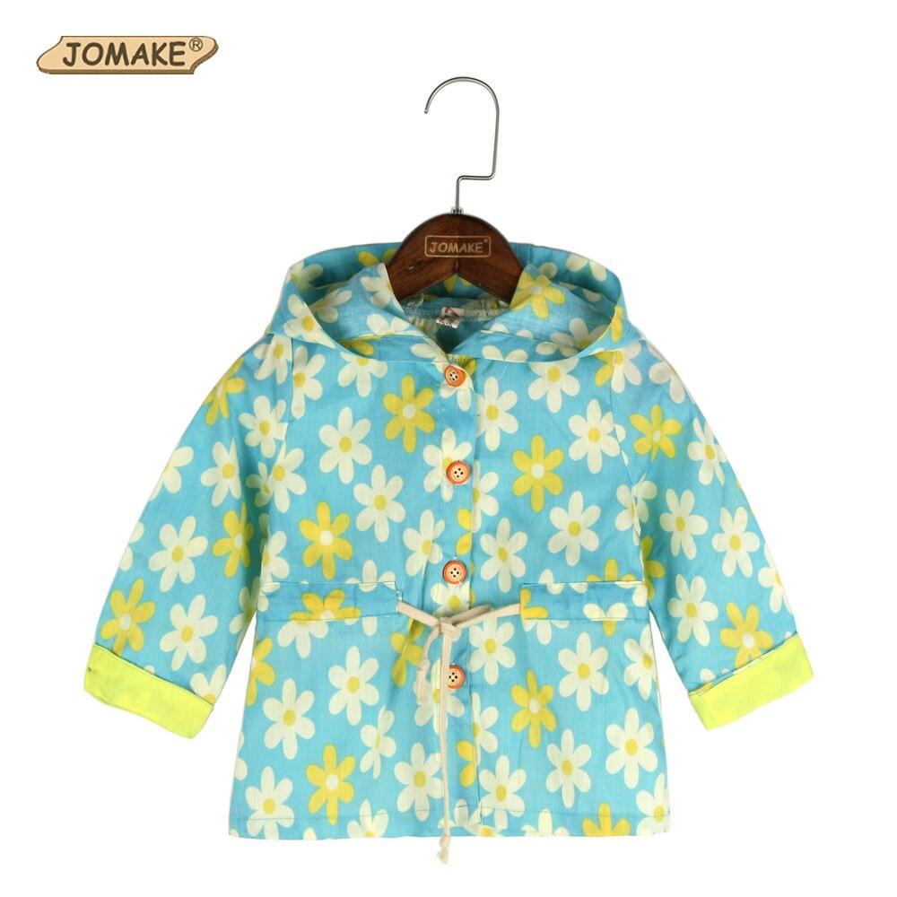 Floral Girls Windbreaker Summer Baby Girl Clothes Kid ...
