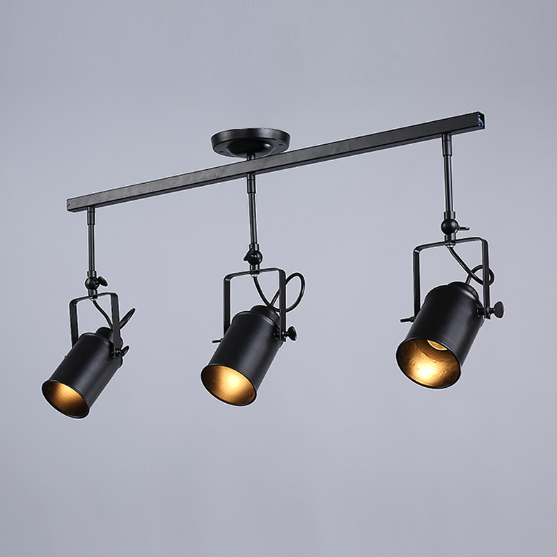 Bedroom Track Lighting: 1 2 3 4 Heads Industrial Track Lighting Black Iron