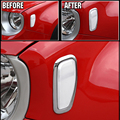 FIT FOR 2015 2016 JEEP RENEGADE CHROME TURN SIGNAL HEAD LIGHT SIDE LAMP TRIM CAR COVER BEZEL FRAME STYLING GARNISH MOLDING