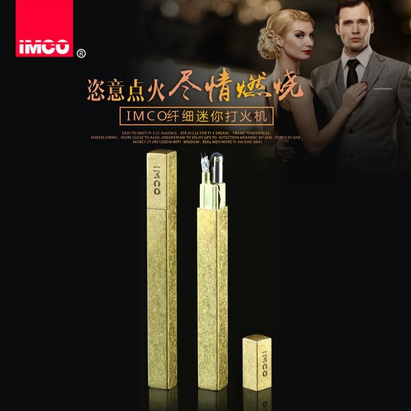 Genuine IMCO Lighter Delicacy Mini Slim Lighter Original Oil Gasoline  Cigarette Lighter Cigar Fire Pure Copper Petrol