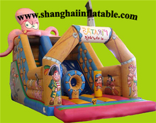 Amusement Park Entertainment Equipment INFLATABLE pirate bounce house