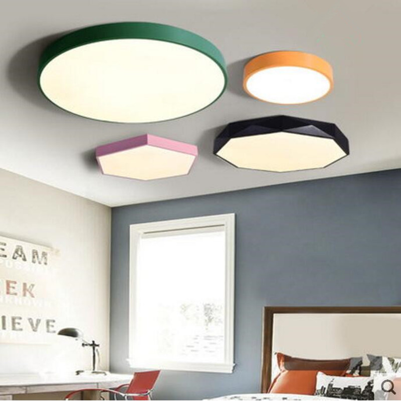 Modern Ceiling lamps LED alien metal Ironware Acrylic colorful iron light Children Bedroom indoor lightings light fixture