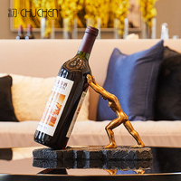 Modern creative home macho wine rack decoration living room porch soft decoration rack Muscular man Wine bottle rack CL190123