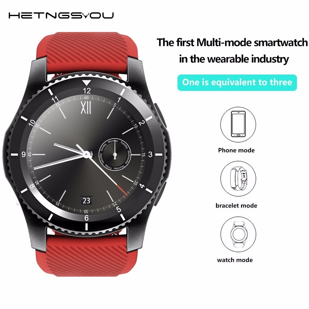 HETNGSYOU Heart Rate Monitor Bluetooth Smart Watch Support SIM Card Call Message Reminder Passometer  Sleep Tracker watch Phone leegoal bluetooth smart watch heart rate monitor reminder passometer sleep fitness tracker wrist smartwatch for ios android