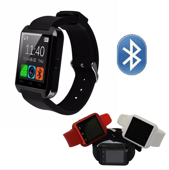 Smartwatch Bluetooth Akıllı İzle iPhone IOS Android Windows Phone için A8 Saat Giyilebilir Cihaz Smartwach PK GT08 DZ09 GV18 Giymek