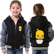 Family Clothes Childrens Hoodie Carton Pattern Thicken Fleece Unisex Family look