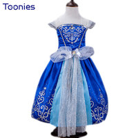 Free Shipping Baby Girls Cinderella Dresses Children Cartoon Princess Dresses Rapunzel Aurora Kids Party Costume Clothes