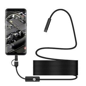 Image 1 - 3 In 1 7Mm Type C Waterdichte Endoscoop Camera 6Led Micro Usb Endoscoop Borescope Inspectie Camera
