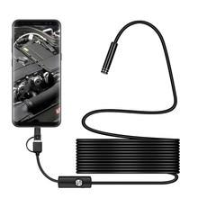 3 in 1 7mm Typ C Wasserdichte Endoskop Kamera 6Led Micro USB Endoskop Endoskop Inspektion kamera