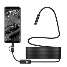 3 in 1 7mm Type C Waterproof Endoscope Camera 6Led Micro USB Endoscope Borescope Inspection camera