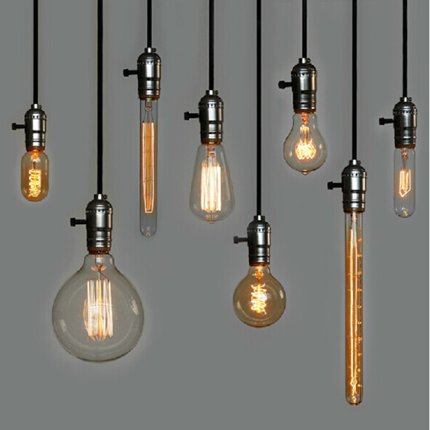 Us 4 06 48 Off Retro Incandescent Vintage Light Bulb Edison Bulbs Pendant For Decoration Of Living Room Bedroom Study St64 A19 G80 Lamp In