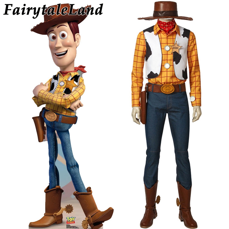 Toy Story 4 Woody Cosplay Costume accessoires Cowboy mascotte Costume Costume boisé tenue Costume sur mesure shérif Woody Cosplay Costume