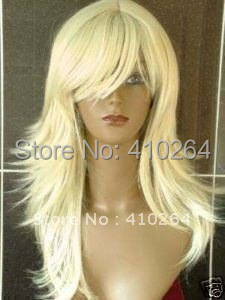 $wholesale_jewelry_wig$ free shipping New Modish blonde long hair women's wig