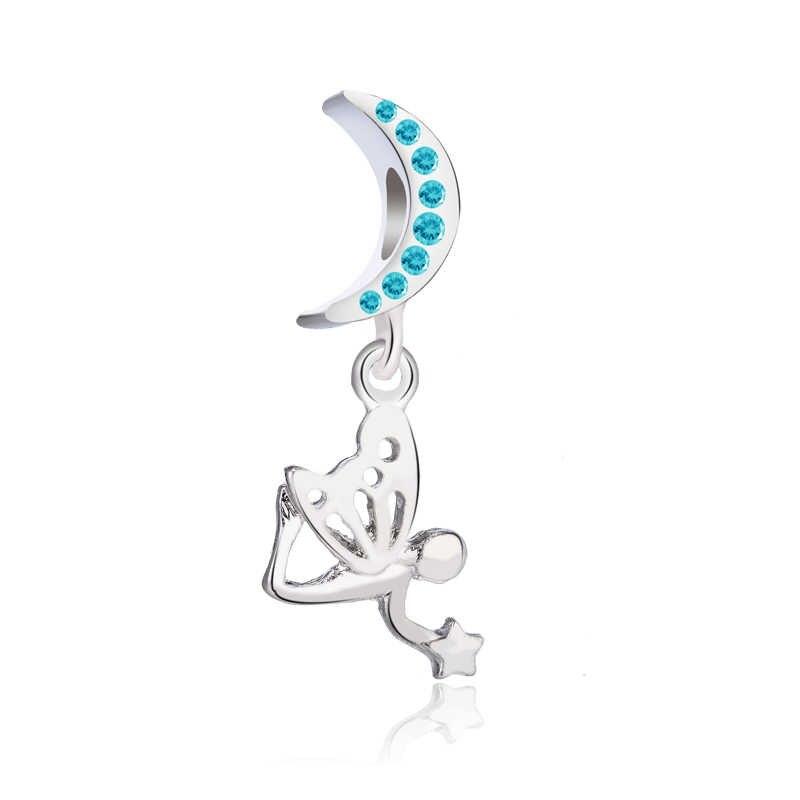 Alta Qualidade de Cristal Copo Lua Coruja Batom Chave Da Flor Do Coração Da Borboleta Beads Fit Pandora Charms para Mulheres DIY Jóias Bugiganga