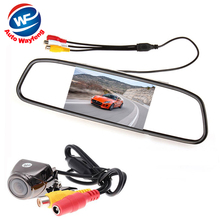 Buy online Auto Parking Assistance System 2 in 1 4.3 Digital TFT LCD Mirror Car Parking Monitor + 170 Degrees Mini Car Rear view Camera