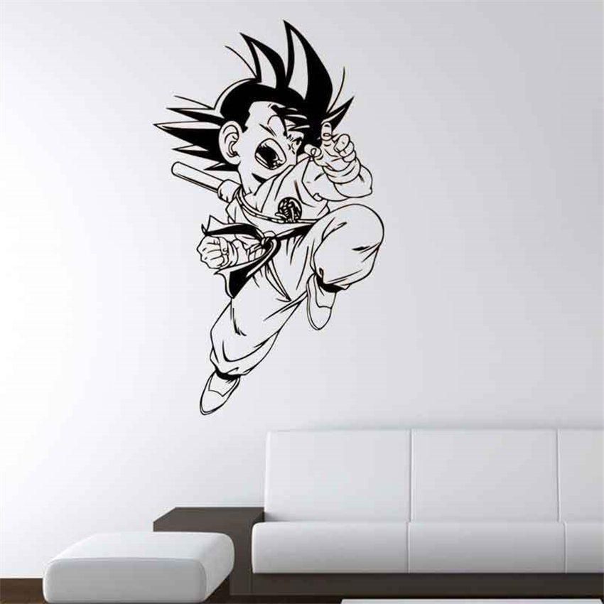 Home Decor Home & Garden Knowledgeable Cartoon Dragon Ball Wukong Vinyl Wall Decal Home Decor Living Room Art Mural Wallpaper Removable Cartoon Cute Wall Sticker D554 Refreshing And Beneficial To The Eyes