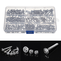 200Pcs Stainless Steel Self Tapping Screw Kits 7 Sizes Pan Head Phillip Tapper Self Tapping Screw