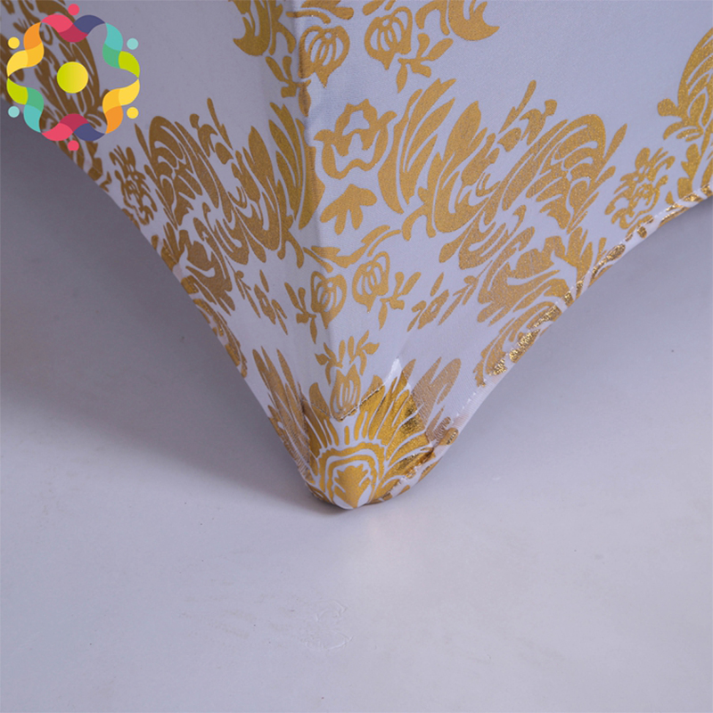 Gold Spandex Wedding Chair Covers Universal Stretch Elastic Polyester Removable Chair Cover For Weddings Banquet Folding Hotel in Chair Cover from Home Garden