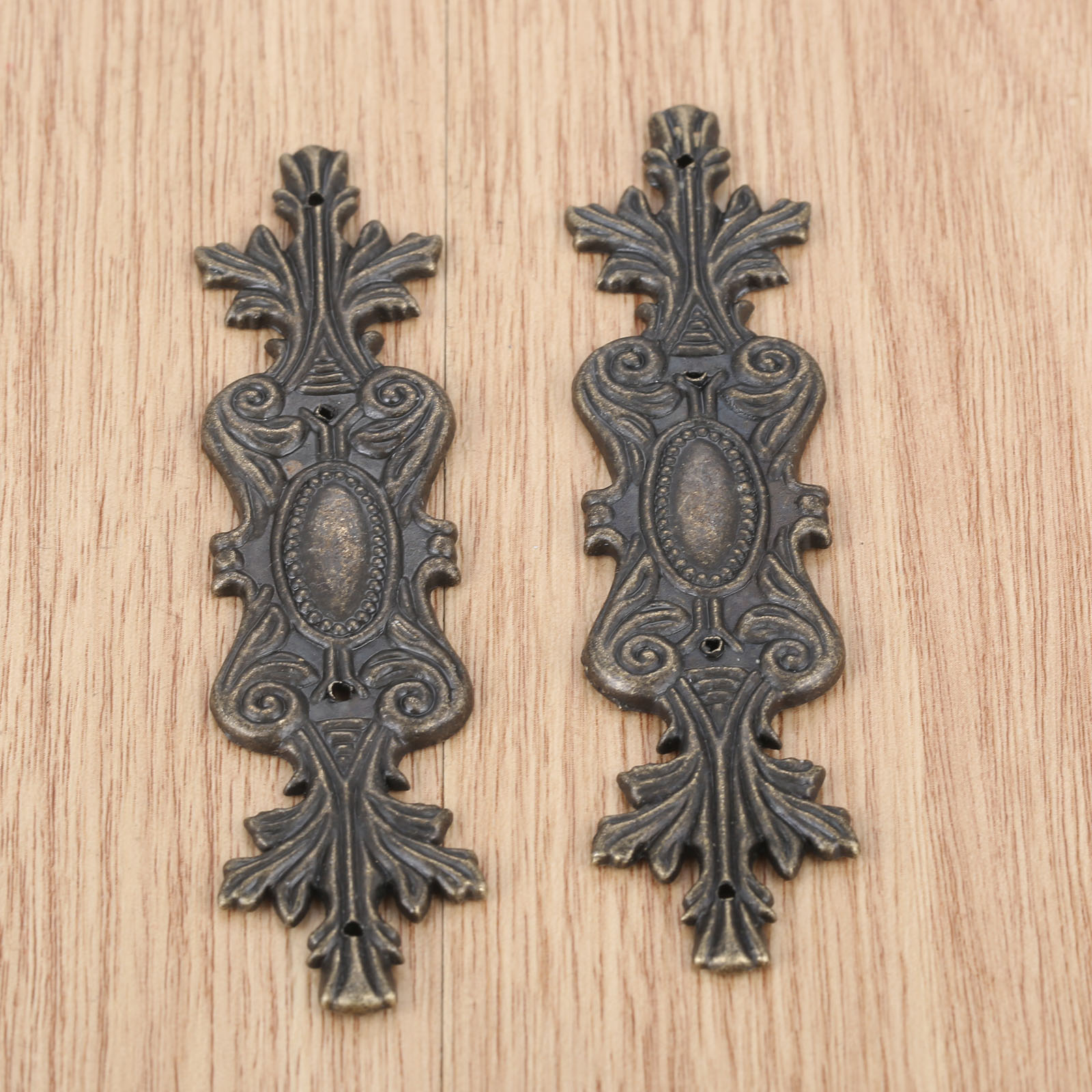 2Pcs Antique Furniture Corner Brackets 100*20mm Jewelry Box Book Album Corner Protector Metal Embellishments Scrapbooking