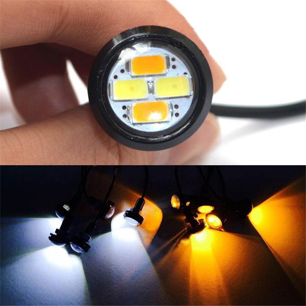 Автомобильные светодиодные лампы 10шт 23 мм 5630 внешнего источника света СИД DRL орлиный глаз дневные подножка предупреждение задний свет сигнала поворота