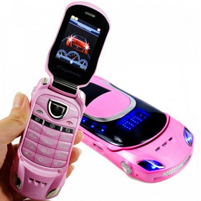 Car Shaped Mobile Phone Original W8 2inch Unlocked Dual