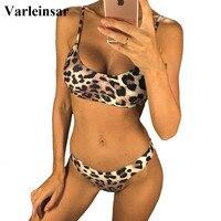 6 Colors Sexy Leopard 2019 Bikini Women Swimwear Female Swimsuit Two pieces Bikini set Brazilian Bather Bathing Suit Swim V871