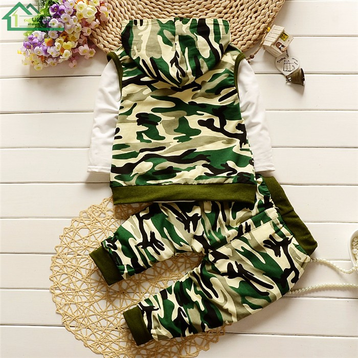 long sleeve camouflage kids clothes set24
