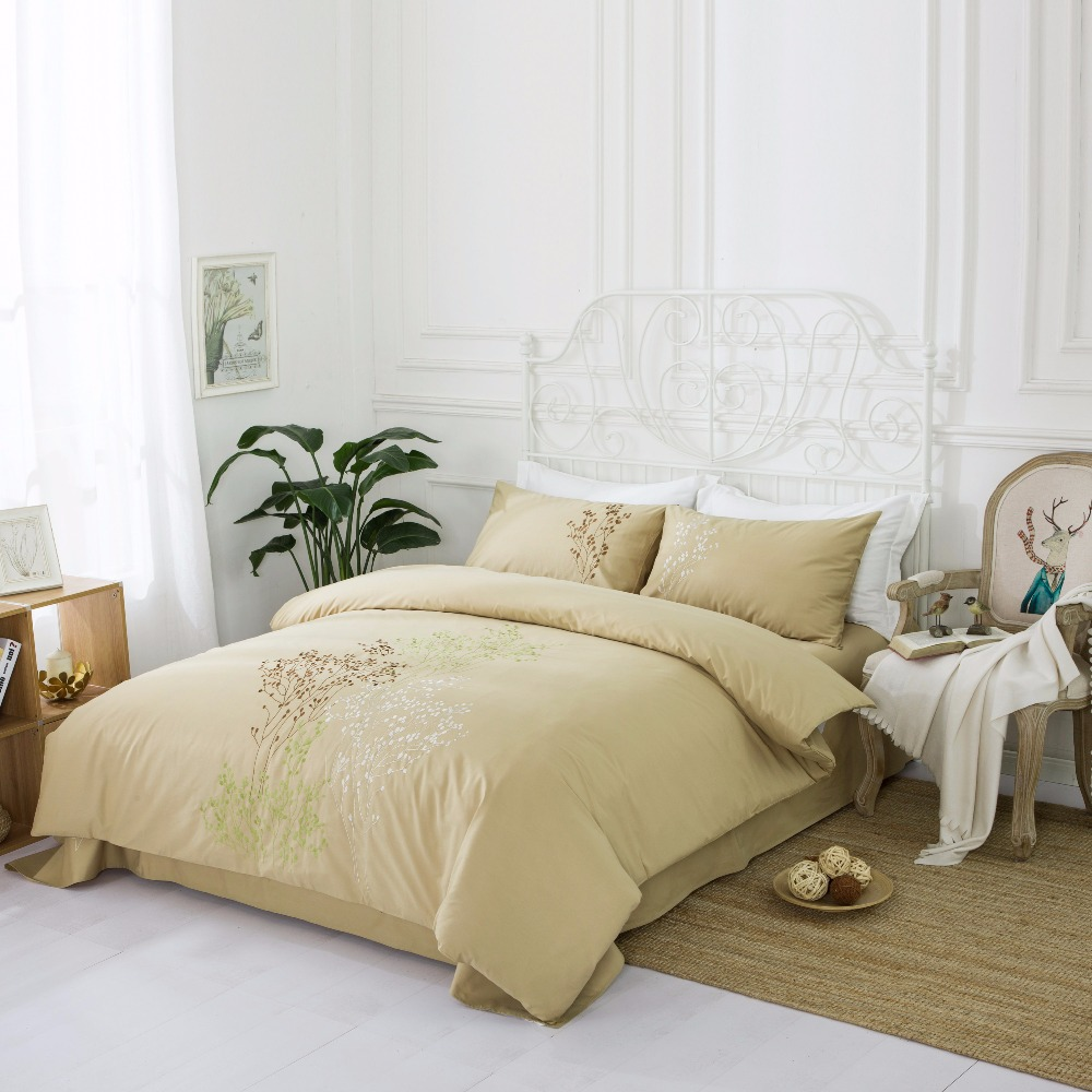 4 UNIDS 100% Algodón Bordado Decoración de la boda ropa de cama - Textiles para el hogar - foto 3