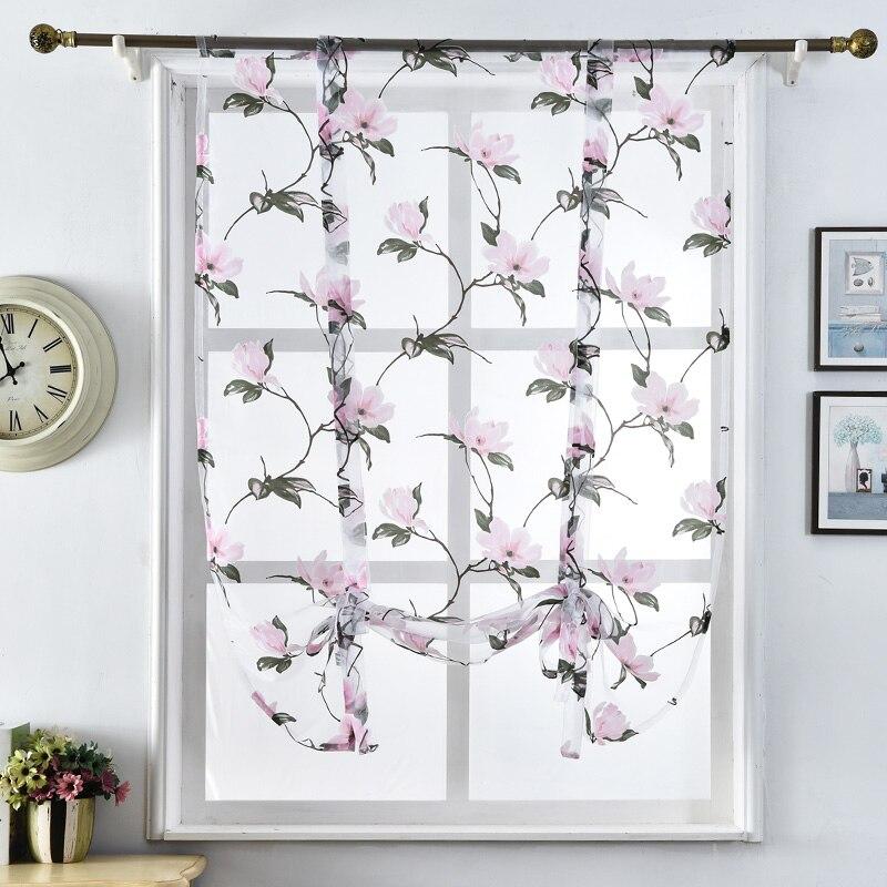 Tulle Fabrics Short Curtains Short Kitchen Curtains Roman Blinds Floral  Design Window Treatments Sheer Curtains Modern