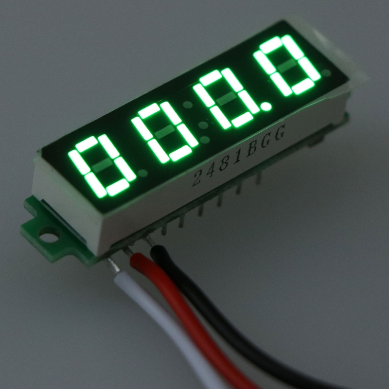 DC 0-500V Voltmeter 0.28 Inch 4bit 3Wire Digital Voltage Gauge Volt Panel Meter