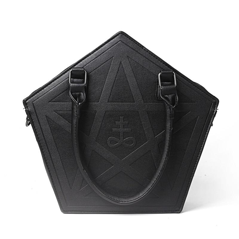 Pentagram Punk Darkness Gothic Five Star Handbag