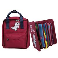 Baby Early Education Cloth Book Baby Learning Color Shape Dress Books Infant Rustle Sound Book Toys with School Bag