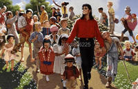 House Decoration Products Portrait Handmade Oil Painting Michael Jackson Happy Family Naturalism Painting High Quality Picture