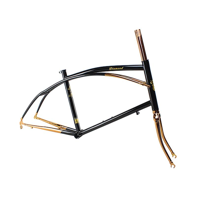 Reynolds 525 Chrome Molybdenum Steel 20 Inch  BXW  Bike Frame Copper Plated Frame DIY  Bike Frame Touring Bicycle Frame 46cm