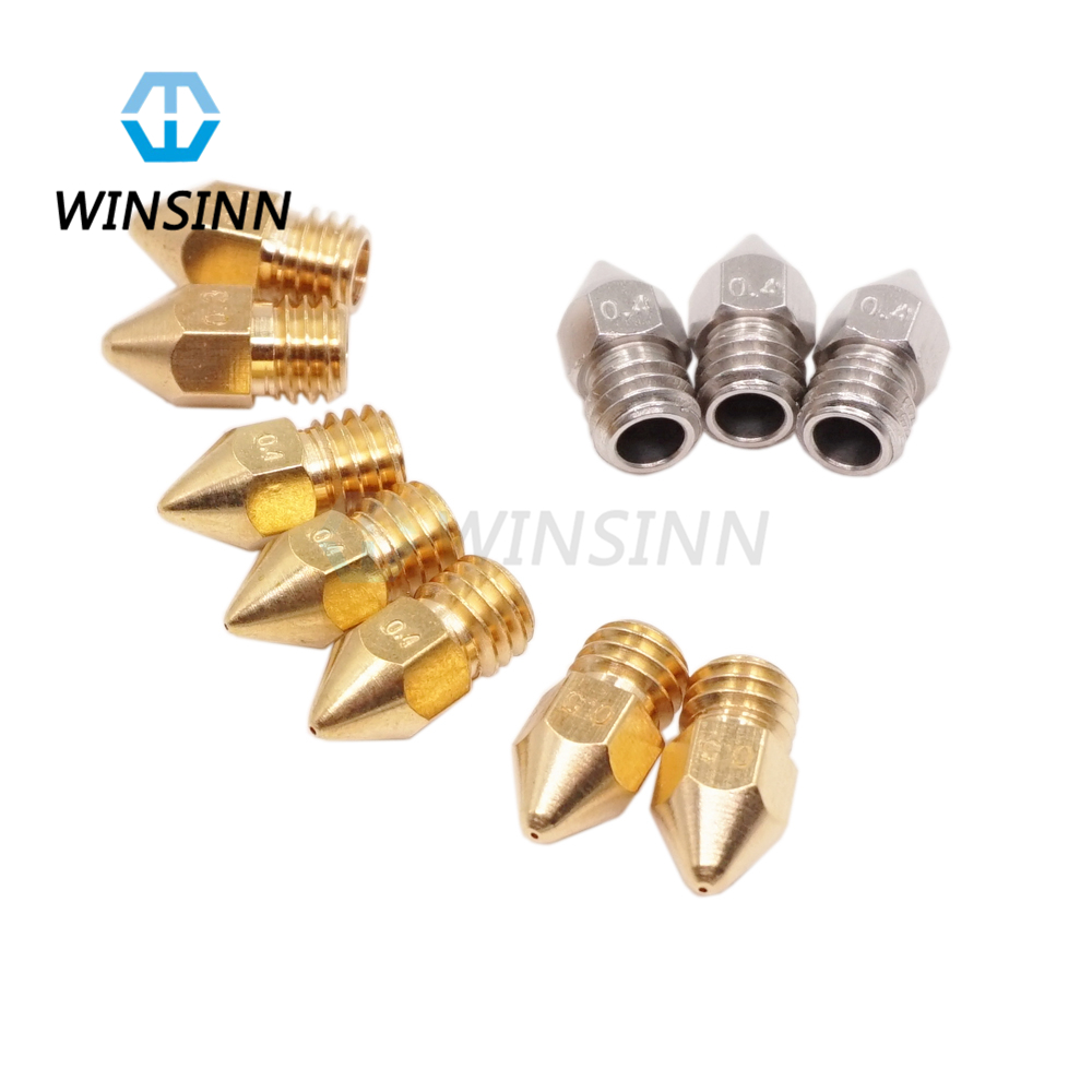 3D Printer Nozzle For Zortrax M200 Extruder Hotend Kit .2mm .3mm .4mm .5mm Copper & Stainless steel